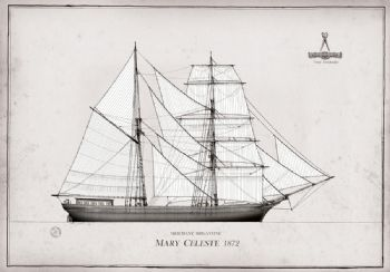 1872 Mary Celeste pen ink study